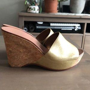 NEW Vintage Diane con Furstenberg wedge sandals